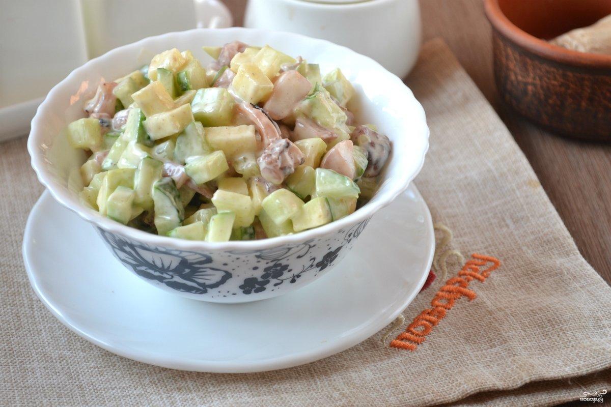 Салат из морского коктейля пошаговые рецепты