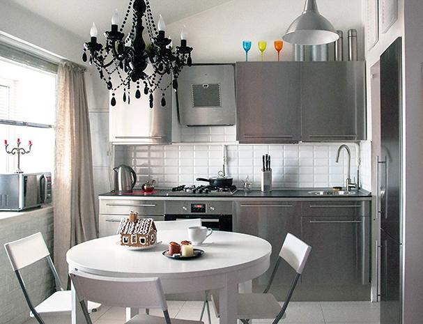 Маленькая кухня дизайн в серых тонах