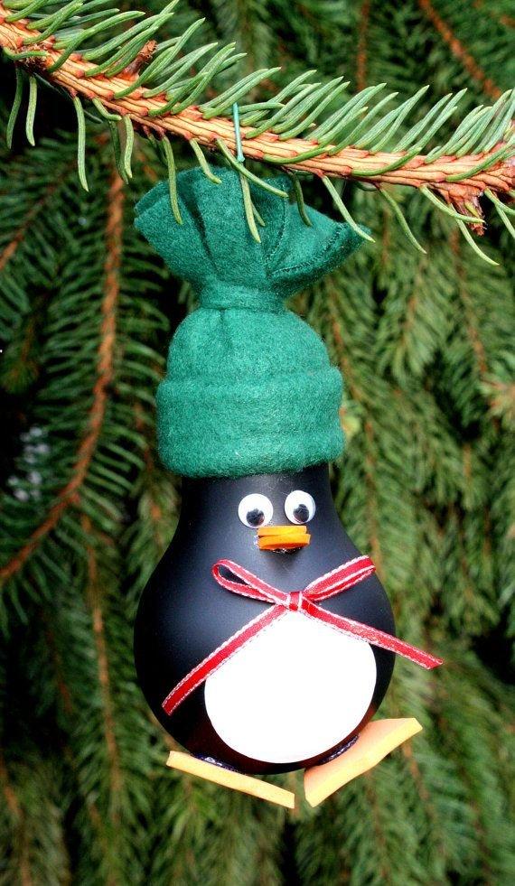 Как из лампочки сделать игрушку на елку