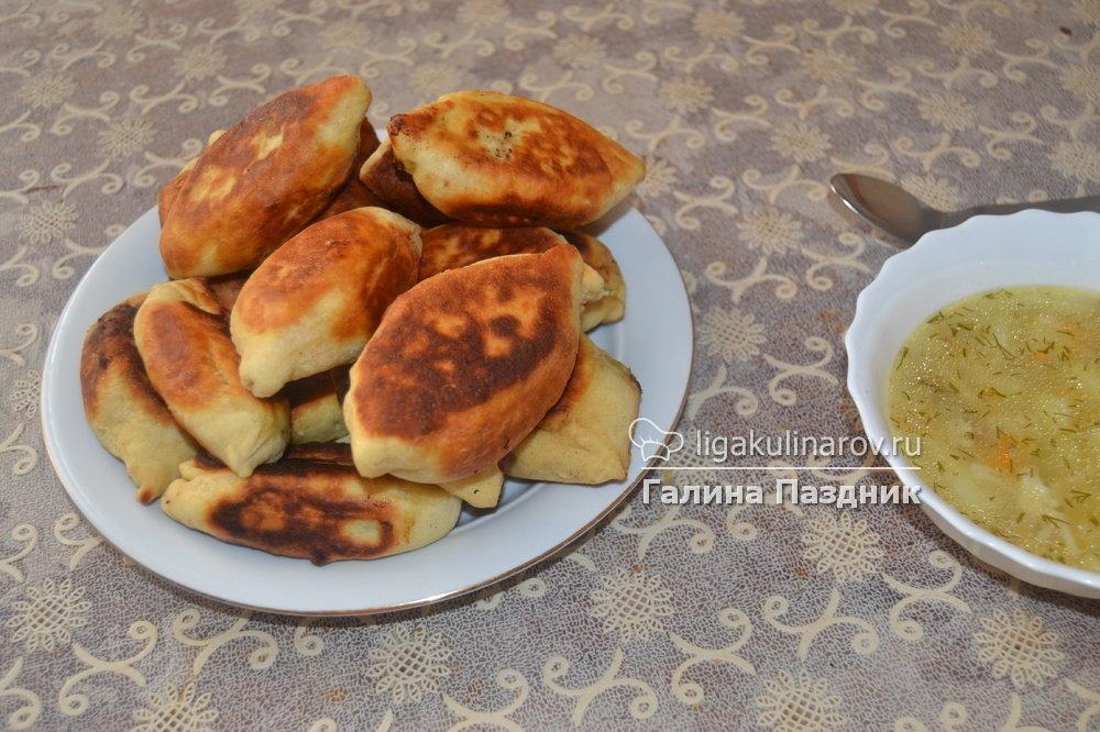 Пирожки с яйцом и луком на кефире пошаговый рецепт с