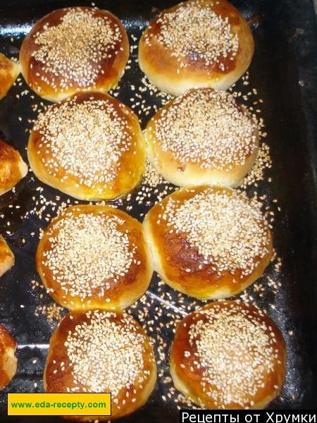Рецепт теста булочки с кунжутом