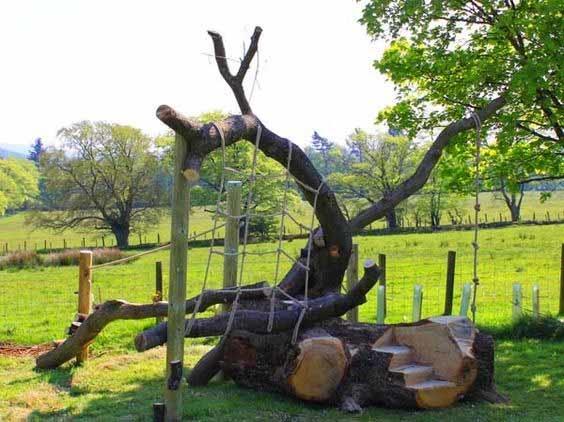 Идеи детских площадок из дерева своими руками 973