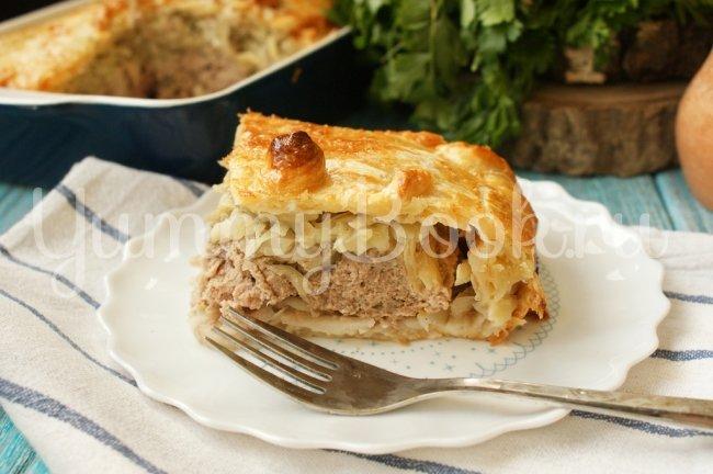 Рецепты мясных пирогов из слоеного теста с пошагово