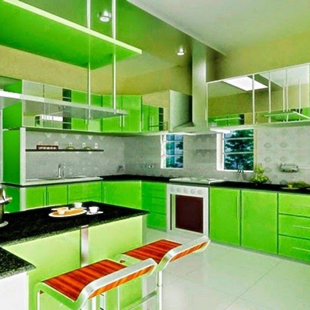 Идеи дизайна маленькой кухни зеленая фото