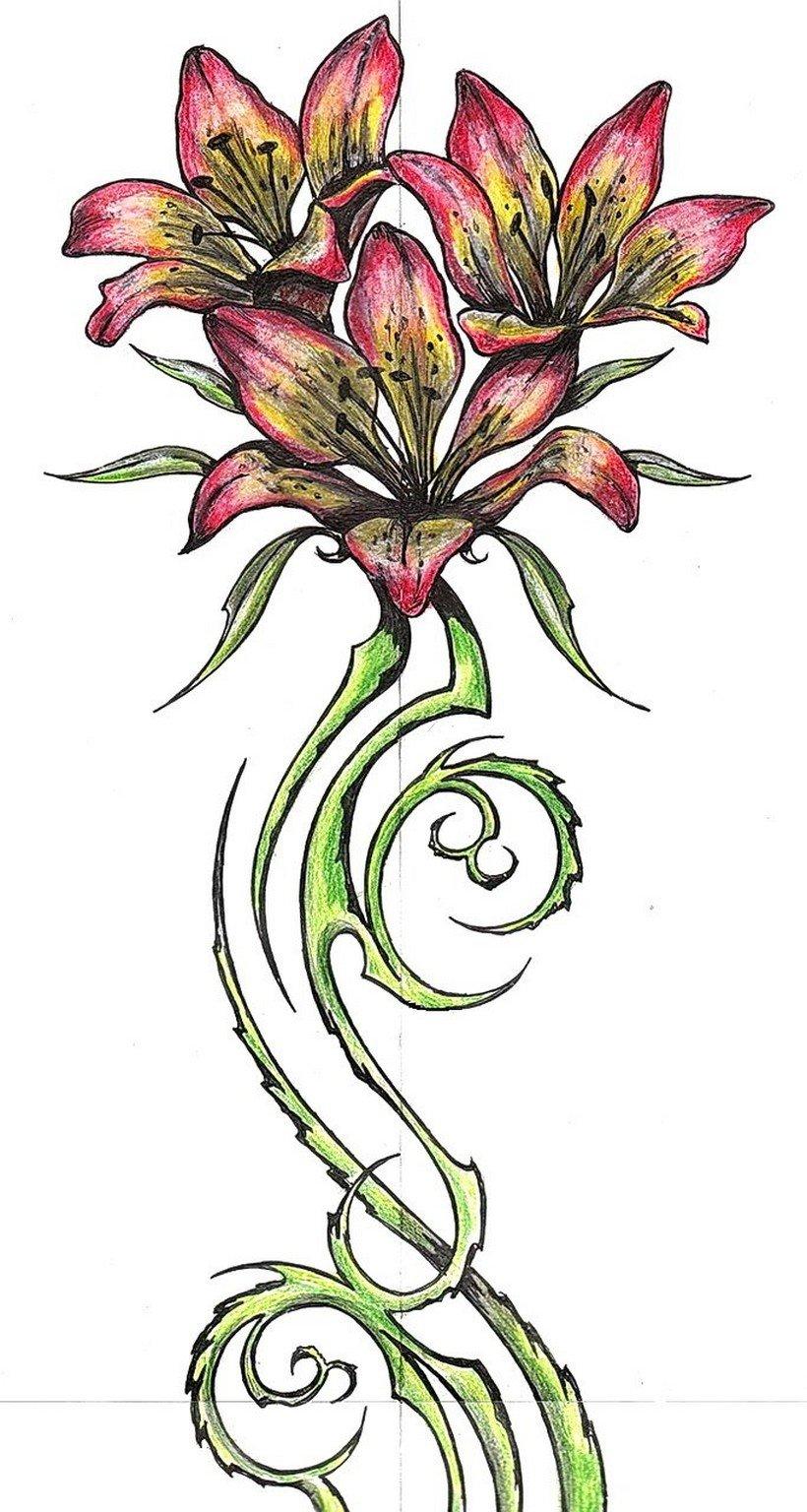 Значение татуировок цветов. Что