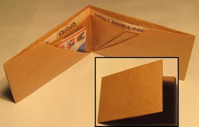 Делаем кошелек из бумаги своими руками