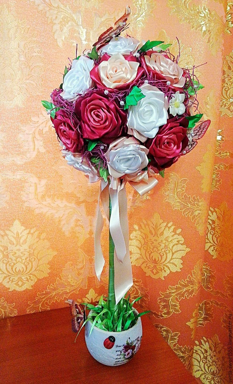 Цветы розы топиарий своими руками