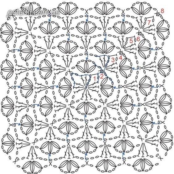 Вязание крючком идеи от людмилы шикарный узор 14