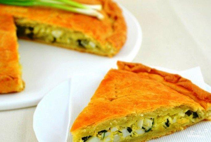 Пирог с луком и яйцом рецепт с фото пошагово в духовке