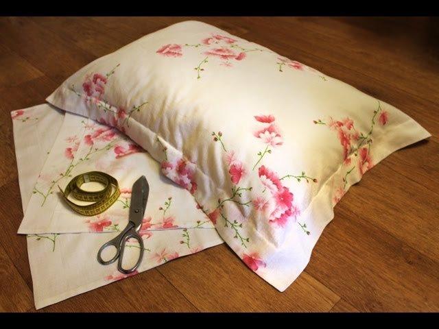 Как сшить наволочку на подушку с ушками пошагово
