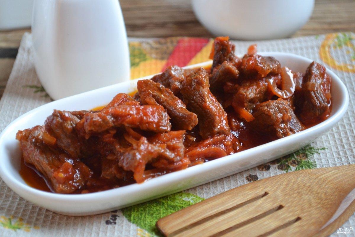 Подлива из свинины и говядины пошаговый рецепт
