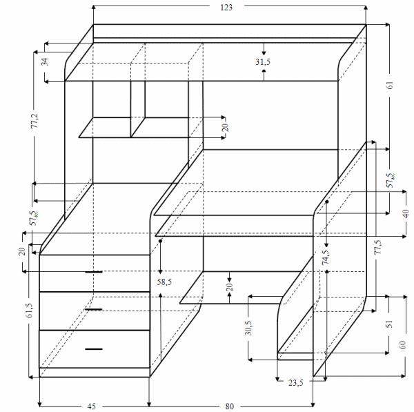 Компьютерный стол своими руками чертежи схемы фото 33