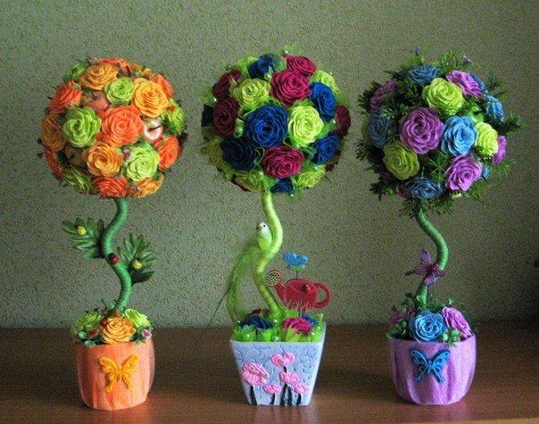 Цветы из гофрированной бумаги пошаговый рецепт 160