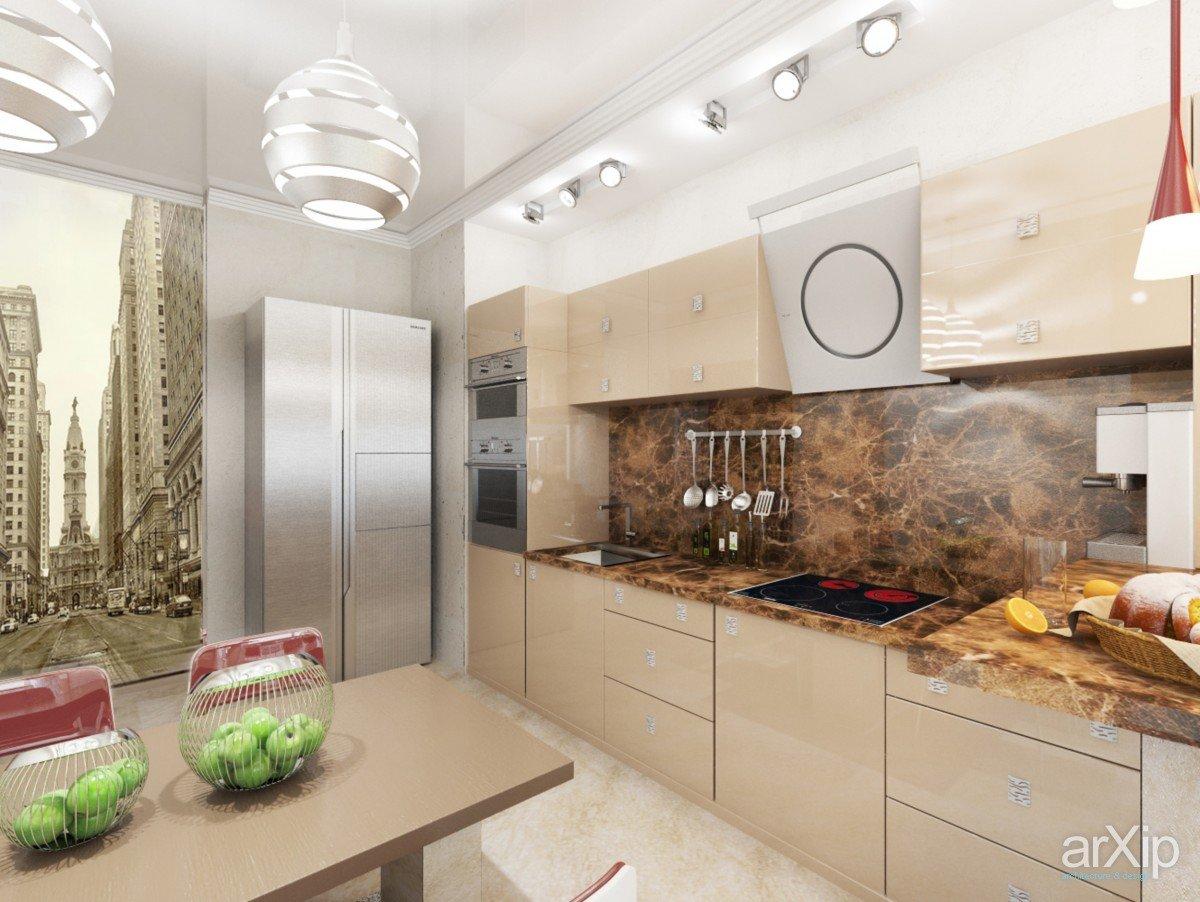 Кухни дизайн в теплых тонах