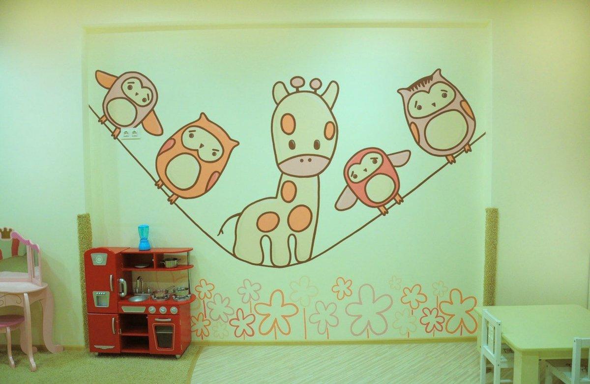 Как раскрасить детскую своими руками 44