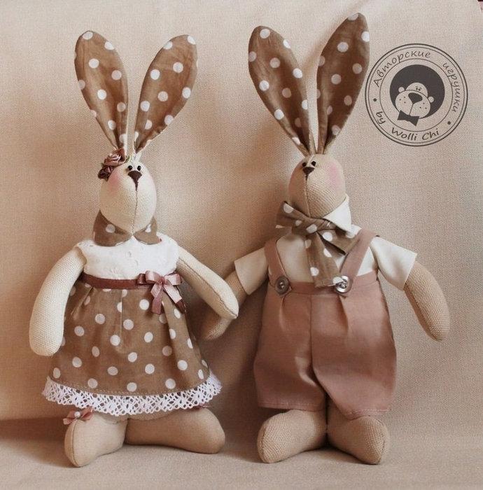 Пара зайцев с ушами в горошек - карточка от пользователя nyura.duckevich в Яндекс.Коллекциях