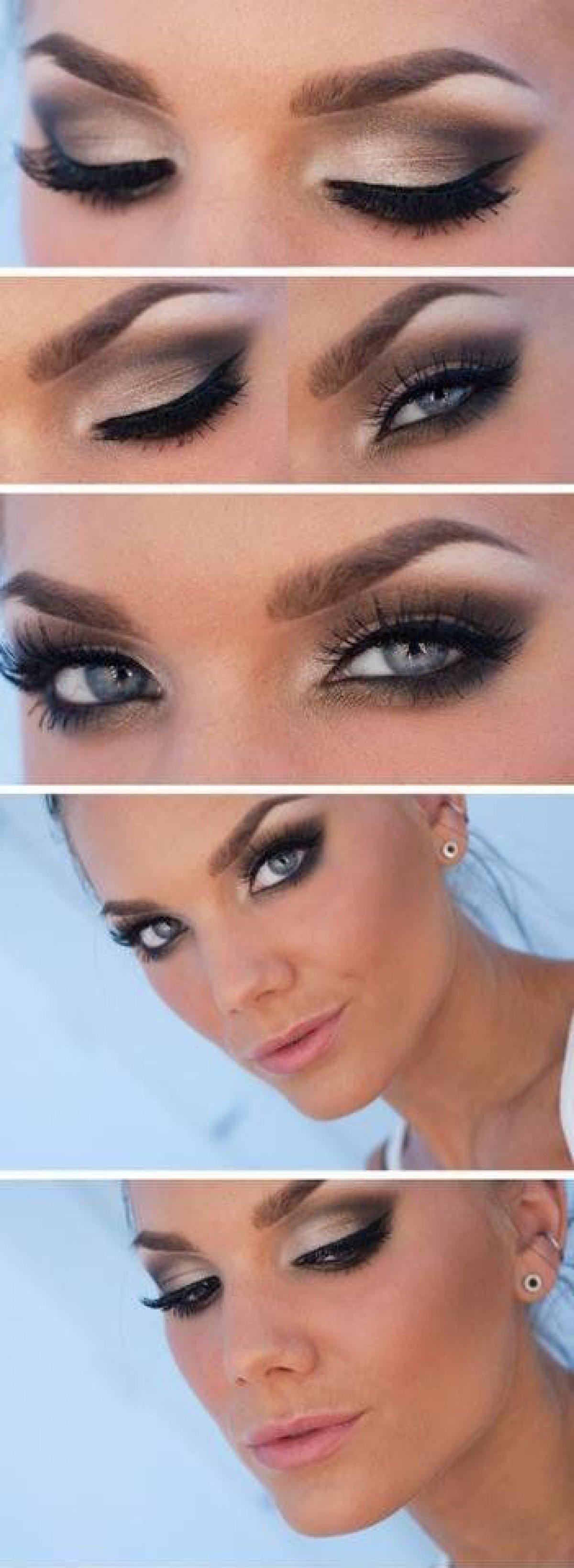 Свадебный макияж для серые глаз фото
