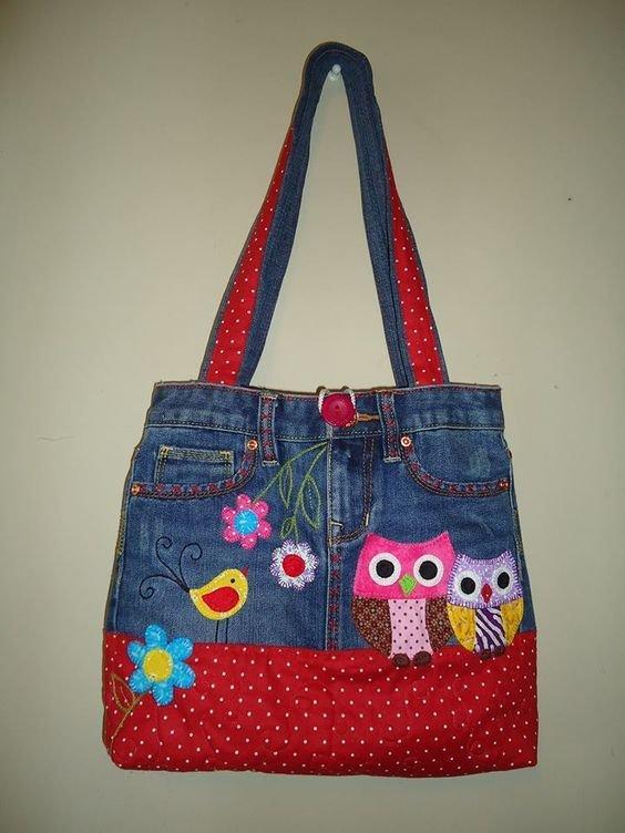 Детская сумочка из джинсов мастер класс