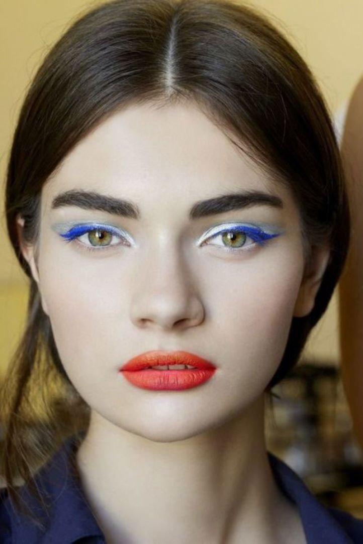 Дневной макияж на узкие глаза