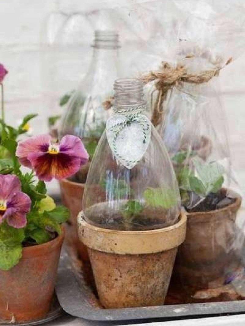 Кашпо для цветов своими руками из пластиковых бутылок пятилитровых фото