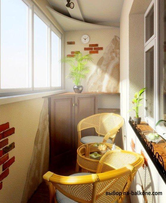 Фото дизайна балкона в хрущевке.