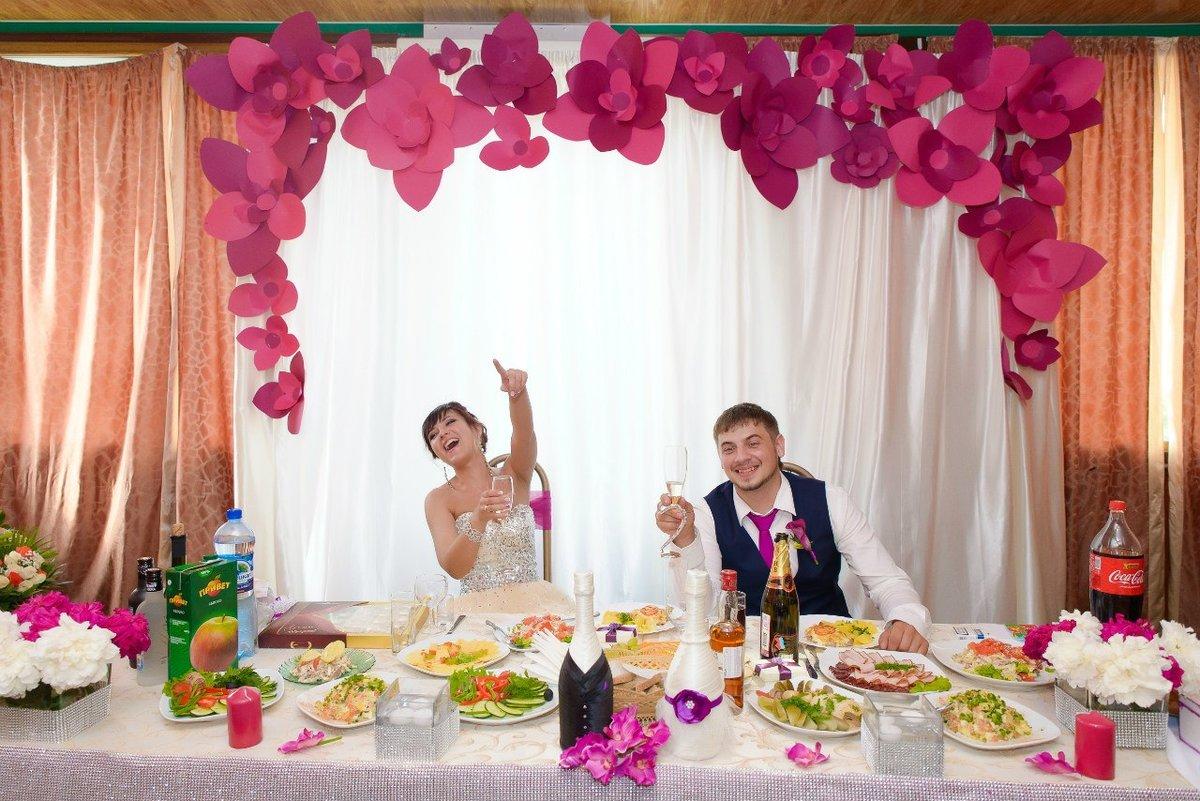 Декор для фото на свадьбу своими руками