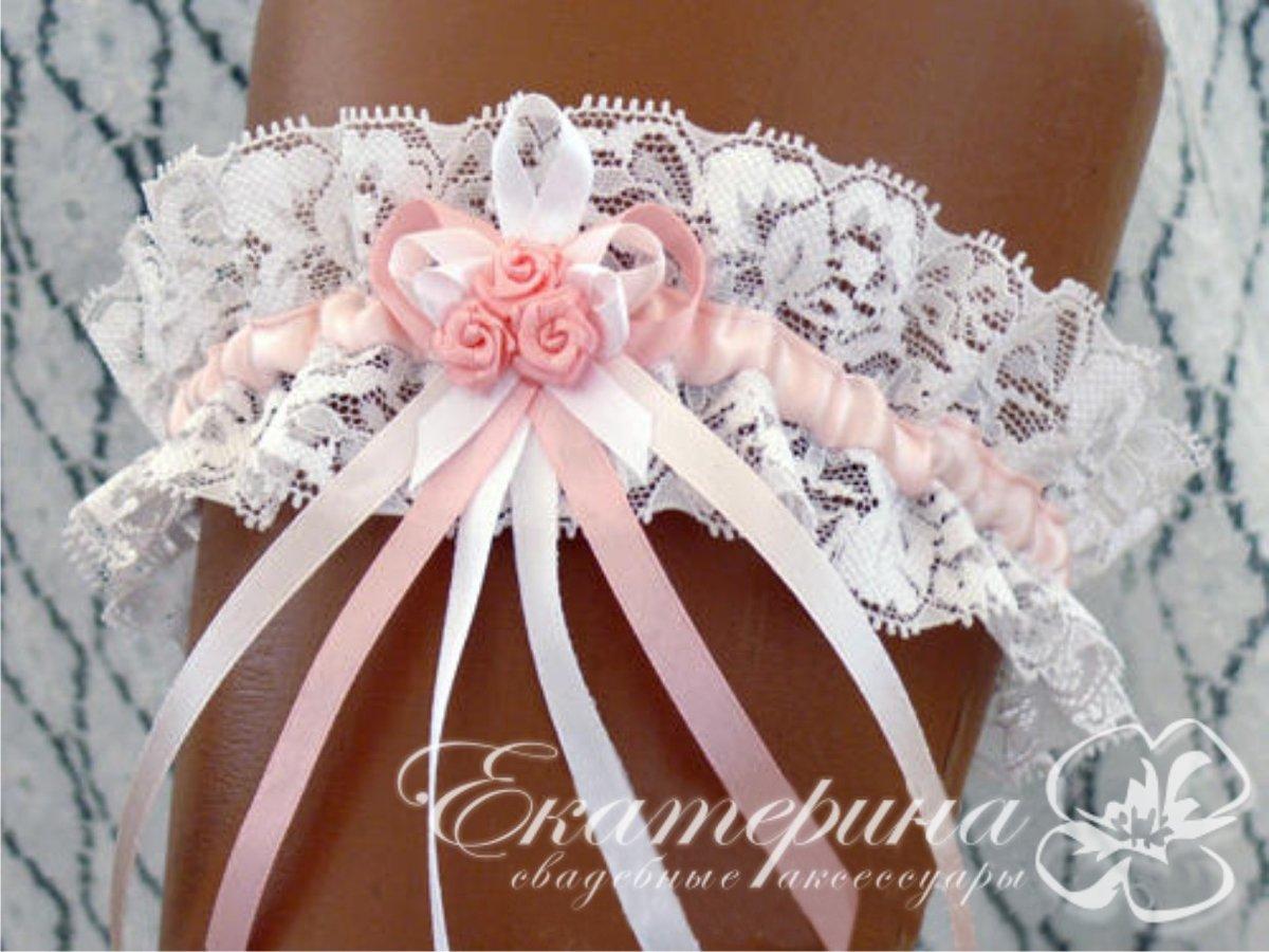 Фиолетовая подвязки невесты своими руками
