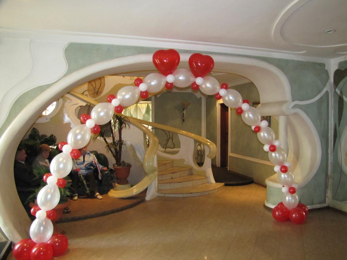 Украшения квартир шарами фото
