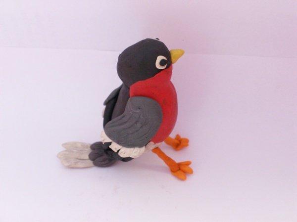 Как сделать из пластилина птиц