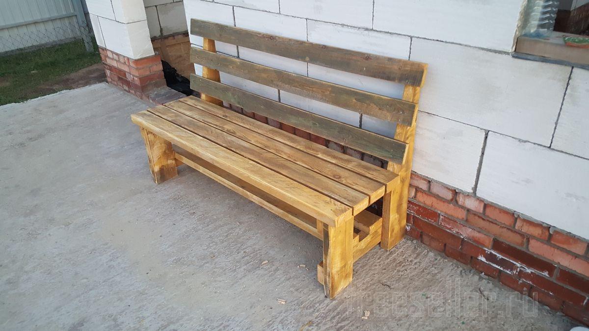 Сделать скамейку без спинки своими руками 360
