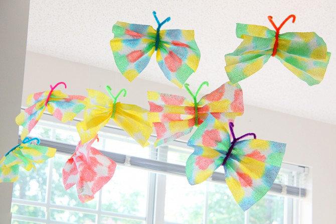 Поделка бабочка своими руками для детского сада 135
