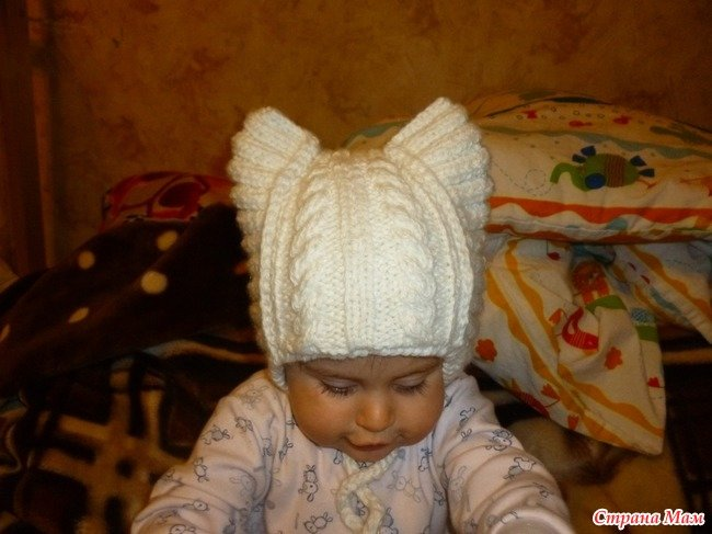 Вязание спицами детских шапок мастер классы 9