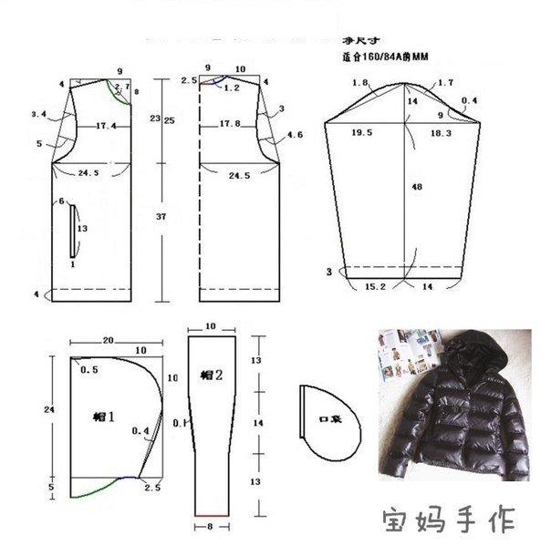 Выкройки женской куртки курток 50 размера