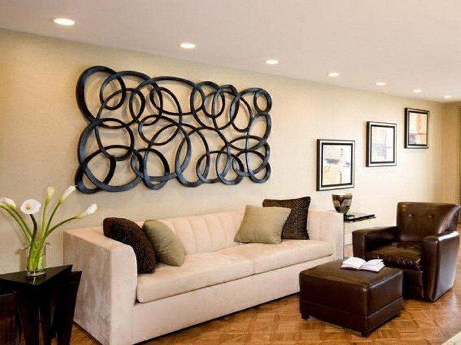 Декор гостиной в квартире своими руками 75