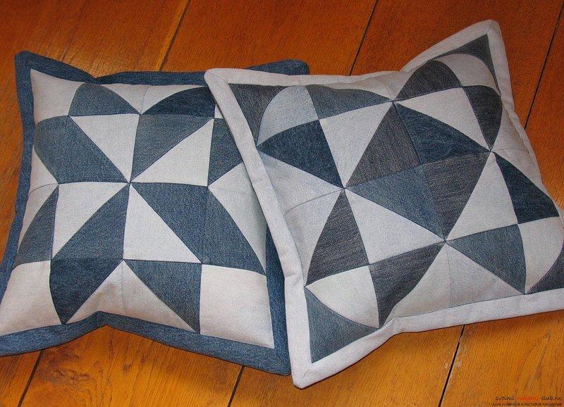 Лоскутное шитье из джинс мастер класс