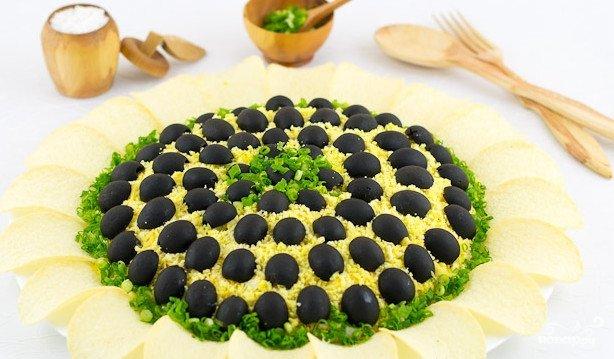 Подсолнух салат рецепт с пошагово в домашних условиях