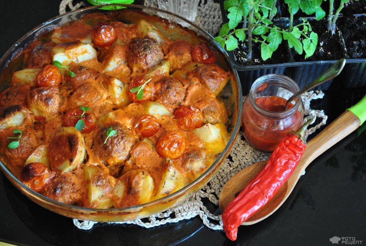 Тефтели с картошкой в духовке рецепт say7