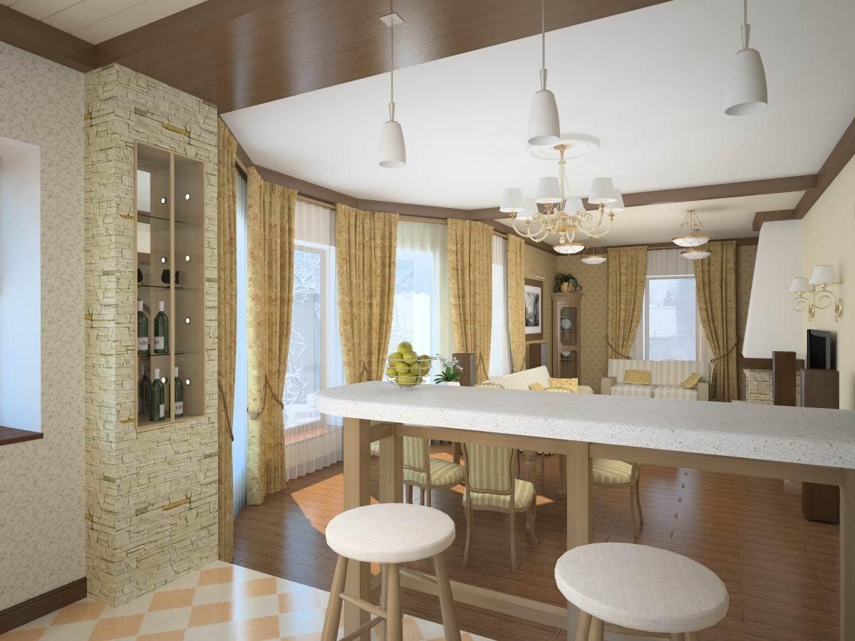 Интерьер кухни и гостиной своими руками фото 33
