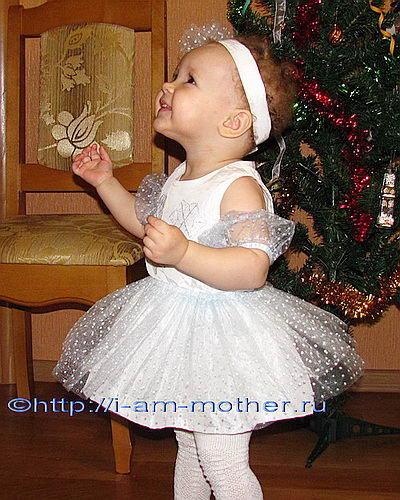 Как сшить новогоднее платье снежинка