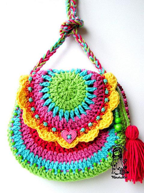 Вязание детской сумочки крючок