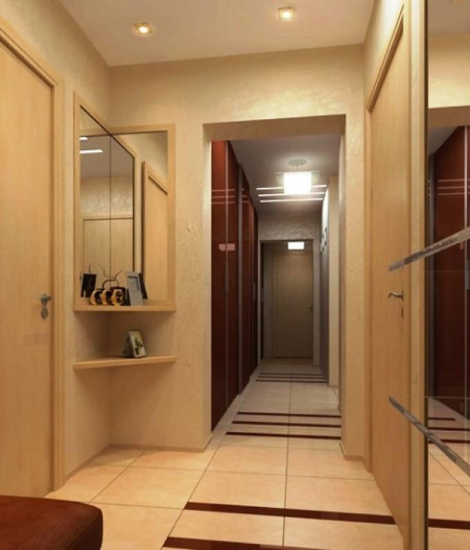 Красивый дизайн маленького коридора