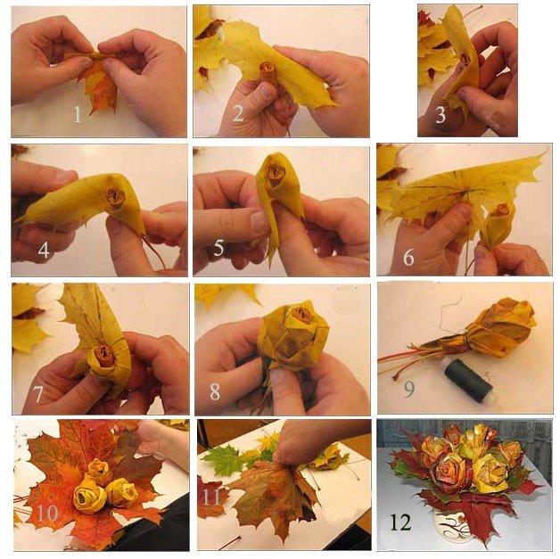 Осенние поделки своими руками в школу фото легкие