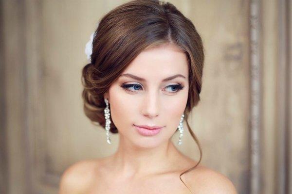 Макияж на свадьбу для невесты фото нежный