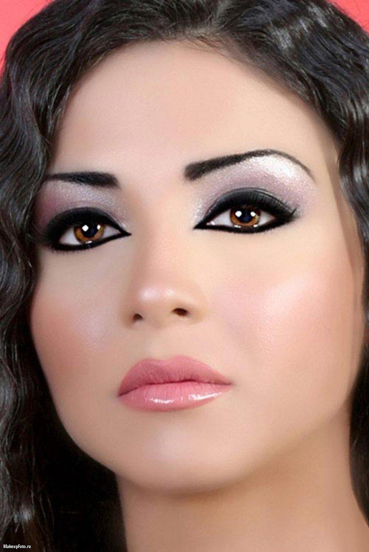 Фото макияжа карих глаз арабский