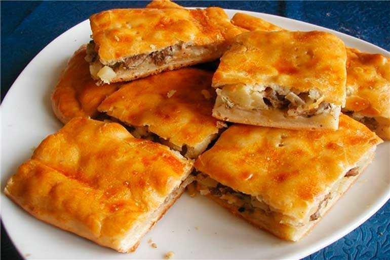 Пирог мясом и картошкой рецепт 173