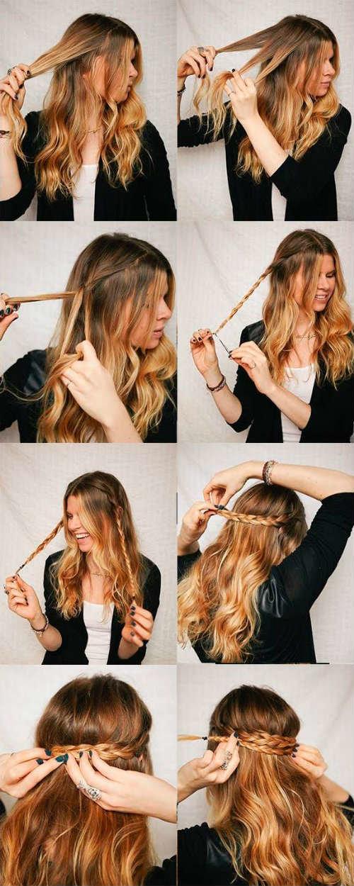 Причёски на длинные волосы с начесом в домашних условиях своими руками 99