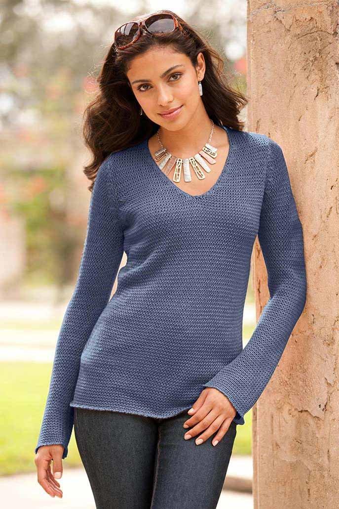 Вязание женского пуловера 82