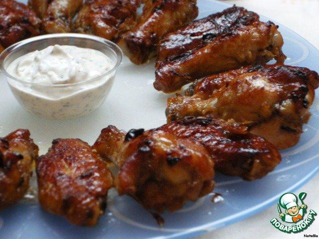 Рецепт крылышек с чесноком
