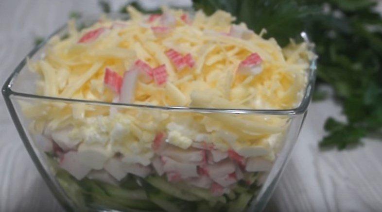 Крабовый слоеный салат в Яндекс.Коллекциях