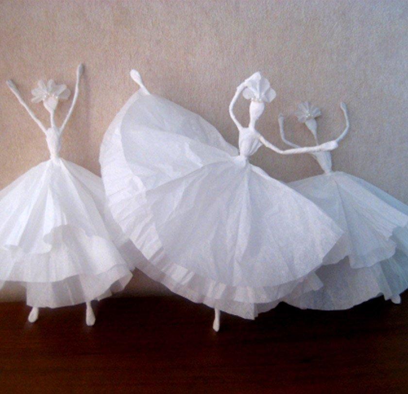 Балерина своими руками из салфеток 75